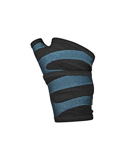 BODYVINE Unisex– Erwachsene Triple Plus 3-Lagen Kompressions Handgelenk Bandage mit Power-Band Compression Taping, Blau, M