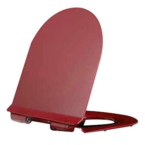 Asiento de Inodoro Cuadrado de Cierre Suave, bisagras de fijación Superior de liberación con un botón, fáciles de limpiarpara el baño del Inodoro (Color: n. ° 2)
