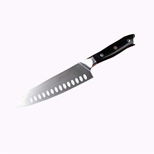 Cuchillo 1.4116 Acero Chef Cuchillo Conjunto Alto Carbono maneja el cuchillo de cocina de acero inoxidable japonés Santoku Pakka (Size : 7 inch Santoku Knife)