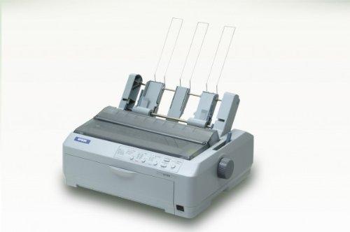 Epson LQ-590 Matrixdrucker (254 x 559 mm, 658 Zeichen pro Sekunde, 4,23 mm, 6 Kopien, Code 39,PoSTNET, UPC-A,UPC-E, Bidirektion)