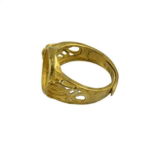 Oro elegante fresco latón redondo bisel ajustable hueco flor anillo bases en blanco DIY 10mm joyería de moda para mujeres hombres