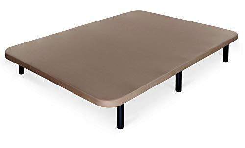 ONEK-DECCO Base tapizada en Tejido 3D Cama Mod. Atlantic Super Reforzada Incluye 6 Patas (90 x 190, Marrón)