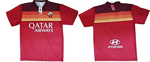 Camiseta de fútbol Roma Neutra no personalizable réplica autorizada 2020-2021 para adulto y niño, rojo, L