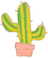 Cartoon Brooches Bird Cloud Cactus Enamel Pins Hat Bag Metal Badge Jackets Collar Pins Women Men Corsage Girl Jewelry Kids Gifts - Cactus