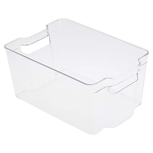 Amazon Basics - Recipientes de almacenamiento de plástico para cocina, medianos (paquete de 2)