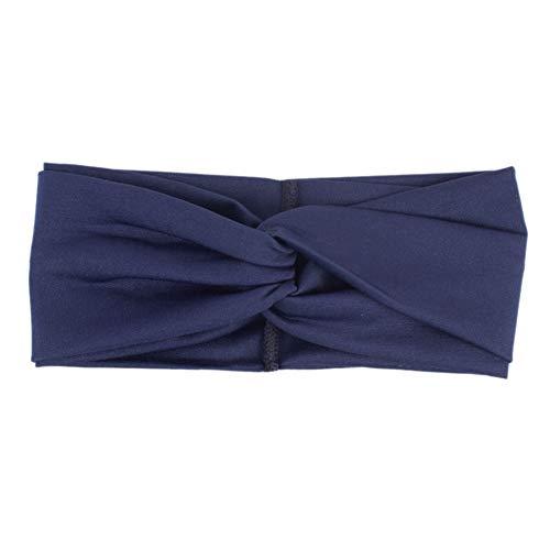 Faixa de cabeça feminina EFINNY Fashion Color Block Twist Stretch para cabelo feminino, turbante, patchwork