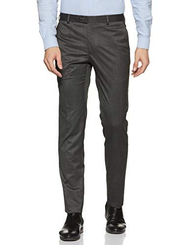 Raymond Men's Slim Fit Formal Trousers (RMTS03541-G6_Dark Grey_30W x 35L)