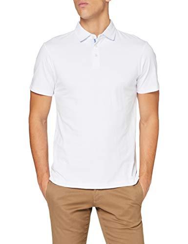 Hackett London Selvedge Trim JSY SS Camisa, 802optic White, XXL para Hombre