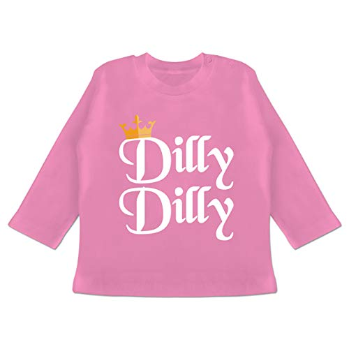 Anlässe Baby - Dilly Dilly - St. Patricks Day - 6/12 Monate - Pink - Bier - BZ11 - Baby T-Shirt Langarm