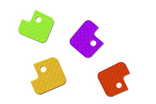 Wedo 262807099 Schlüsselkappen (aus flexiblem Kunststoff, eckig) 100 Stück, farbig sortiert