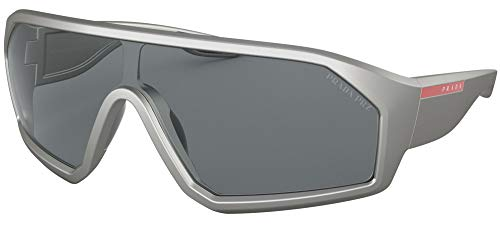 Prada Sport - Gafas de sol unisex para adulto PS 03VS Grey Demishiny 136 cm