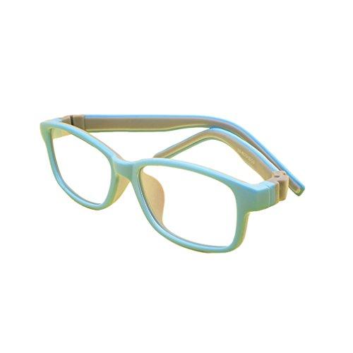 Juleya Juleya Kinder Gläser Rahmen - Silikon - Professionel Kinder Brillen Clear Lens Retro Reading Eyewear für Mädchen Jungen