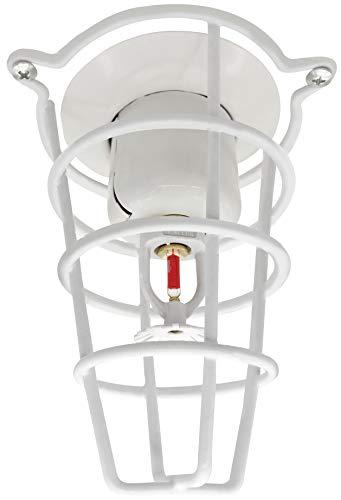 Feuer-Sprinkler Kopfschutz weiß für 1,27 cm und 1,9 cm Sprinklerkopf 15,2 cm tiefer Käfig 9 Pack