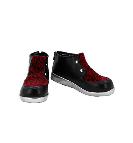 Veribuy Halloween Men Cosplay Shoes Costume Black Cosplay Boots