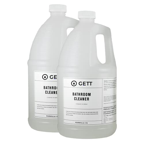 Soap Scum and Grime Bathroom Cleaner - Quickly Penetrates and Removes Grime in Bathtubs, Showers, Tiles, Fresh Scent, Made in USA, 2x Gallon Jugs (256 fl oz), Bulk Refill Size, by GETT Products (2-pack)