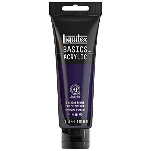 Liquitex 1046186 BASICS Acrylic Paint, 4-oz tube, Dioxazine Purple