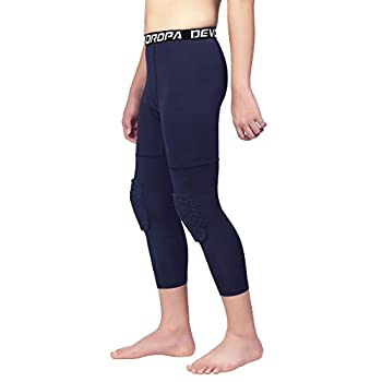 youth basketball tights with knee pads