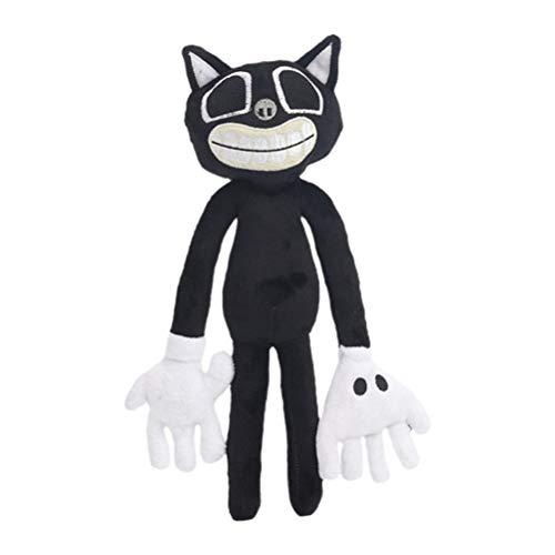 kengb Cartoon Katze Hund Plüschtier, 30CM Horror Cartoon Cat Plush Spielzeug Anime Katze Plüsch Gefüllte Puppe Schwarz Geschenke für Jungen Mädchen