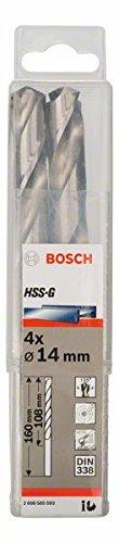 Bosch Professional Metallbohrer HSS-G geschliffen (4 Stück, Ø 14 mm)
