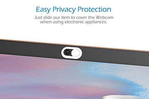 CloudValley Webcam-Abdeckung, 6er-Pack, 2020 aktualisierte Laptop-Kamera-Abdeckung, horizontale Schiebefunktion, Webcam-Abdeckungen für MacBook Air, MacBook Pro, iMac, iPad, Prvacy Cover – Weiß