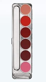 Kryolan 1207 Lip Rouge Palette- 6 Colors (Standard)