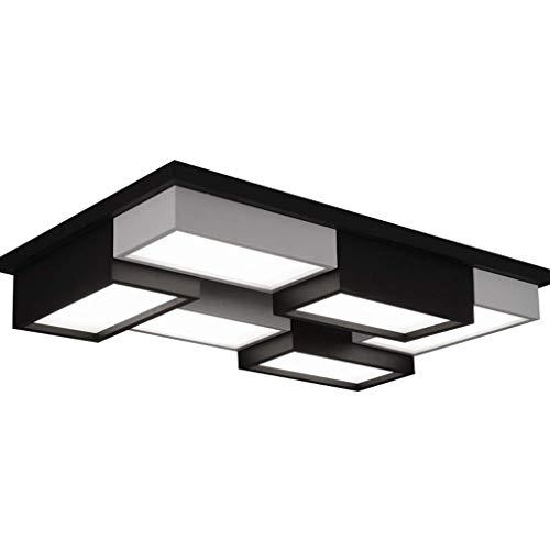LUYS Oscurecimiento de Techo Control Remoto Luz Llevada Moderna Lámpara de Techo Creativo Salón Dormitorio Estudio de 6 Luces de Iluminación de Tec