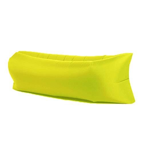 APQMR Luft Sofa Mit Aufblasbare Liege Air Sofa Ultraleichter Strandschlafsack Klappbar Für Strandcamping Reisepicknick Outdoor-Schlafmatte - Gelb