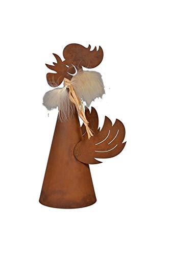 Rostikal zaunhocker/figurine «coq» 33 cm de hauteur