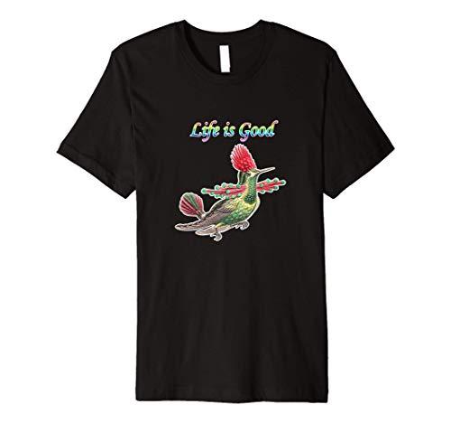 hummingbirds Life is Good bird vibe Birdwatcher present Premium T-Shirt