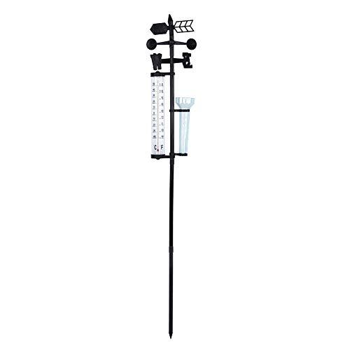 HERCHR 3 In 1 Indoor Outdoor Thermometer Wireless, Weather Station Rain Gauge Outdoor for Outdoor Gardening Tools