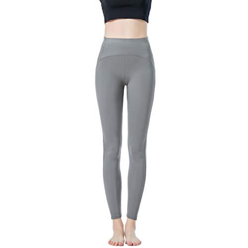 JOPHY & CO - Lange Leggings für Damen, bi-elastisch, aus Push-Up-Gewebe (Artikelnummer: 9815), Grau M