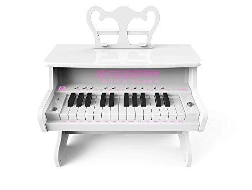 iDance MP 1000 Digitales Piano Weiß 25 Schlüssel - Digitale Pianos (Batterie/Akku, 5 W, AAA, 236 mm, 384 mm, 38 cm)
