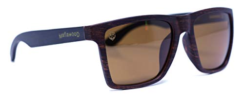 Óculos de Sol Giuseppe Black Brown, Mafia Wood Exclusive Wear, Adulto Unissex, Preto, G