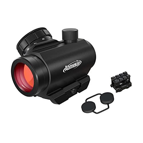 AOMEKIE Red Dot Softair Mirino Red Dot Riflescopi 3MOA 1x20mm Ottica con Rivestimento in Vetro Impermeabile Antiappannamento per Montaggio su Guida 20mm Weaver Picatinny