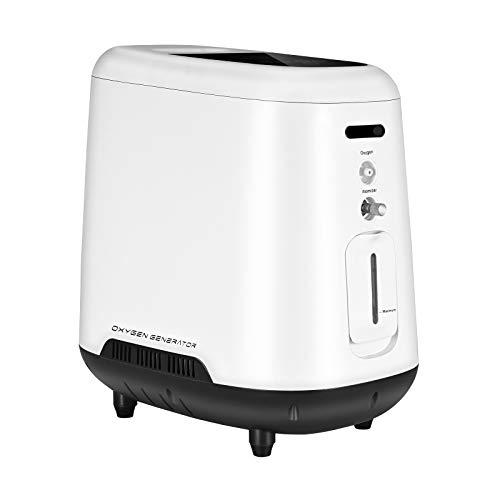 InLoveArts Concentrador de oxígeno Portatil 1-7 L/min Generador de oxígeno ajustable 93% Concentrador de oxígeno doméstico portátil(Envío desde el almacén de Italia, entrega en 2 días)
