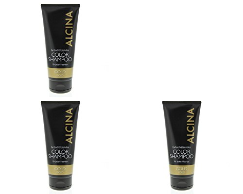 Alcina Color Shampoo Gold 3x200ml