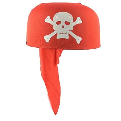 Bontand 1pc Fancy Schädel-Piraten-Kapitän Hut Kopf Schal Mütze Partei Halloween-Kostüm Verkleiden Hut Für Spaß-Piraten-Cosplay