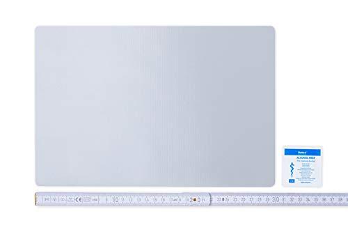 Flickly Anhänger Planen Reparatur Pflaster | in vielen Farben erhältlich | 30cm x 20cm | SELBSTKLEBEND (Lichtgrau)