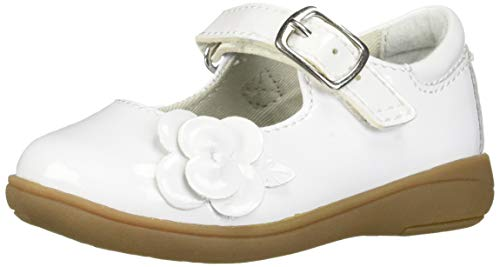 Stride Rite Baby-Girl's Ava Casual Mary Jane Flat, White, 12.5 W US Little Kid
