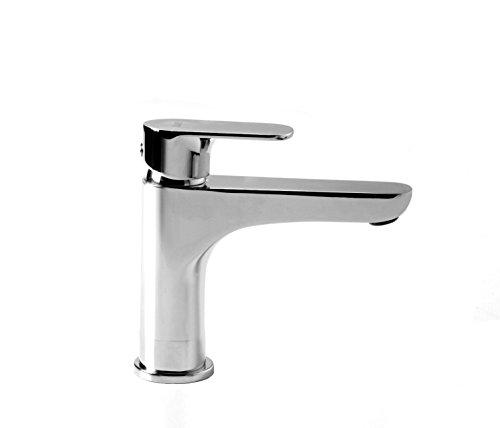 Miscelatore Rubinetto lavabo con prolunga 2 cm bocca lunga senza scarico Smile Framo per Bagno Cromo