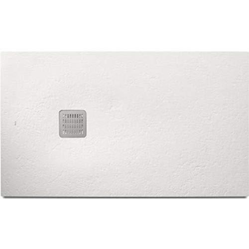 Plato de ducha de la serie Roca Terran Basic, con acabado texturizado, 100 x 70 x 2 centímetros, color blanco (Referencia: AP1013E82BC0110B)
