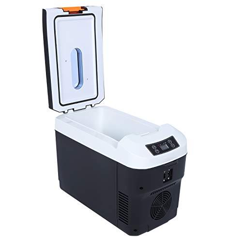Q-HL Mini Nevera Frigorífico Refrigerador Mini Refrigerador para El Hogar De La Oficina del Hogar Cigarette Lighter 10l Portátil Pantalla Digital Inteligente Pequeña Nevera 12v / 24v