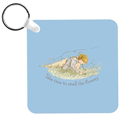 Holly Hobbie Take Time To Smell The Flowers Keyring