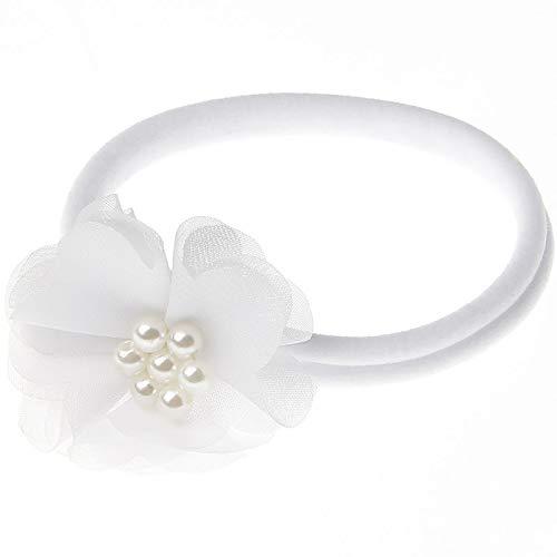 Diadema de flores para niñas, diadema con perlas – Baby Niña Flor Perla Accesorio para el pelo para fiesta de cumpleaños o fotografía