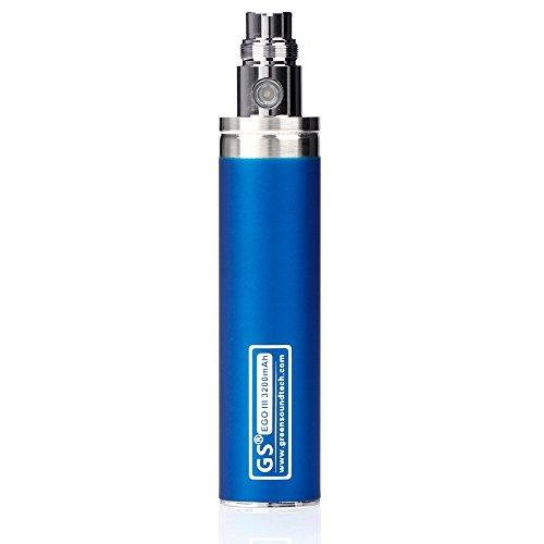 Kanke 3200mAh eGo III Vape Battery Rechargeable for CE4 Electronic Cigarette E Cig E-cigarettes Huge Capacity Batteries 510 E-Shisha Starter Kit Non Contenga Nicotina Blue