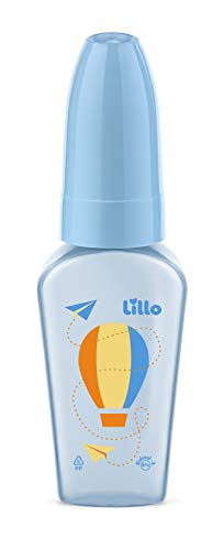 Mamadeira Chuquinha Primeiros Passos Látex Lillo Azul 50 ml