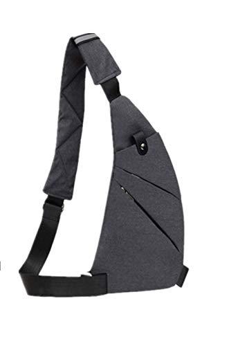 Bandolera, por el pecho o la espalda, mochila antirrobo,Pecho Deporte portatil para Caminatas al Aire Libre Viajes (gris)