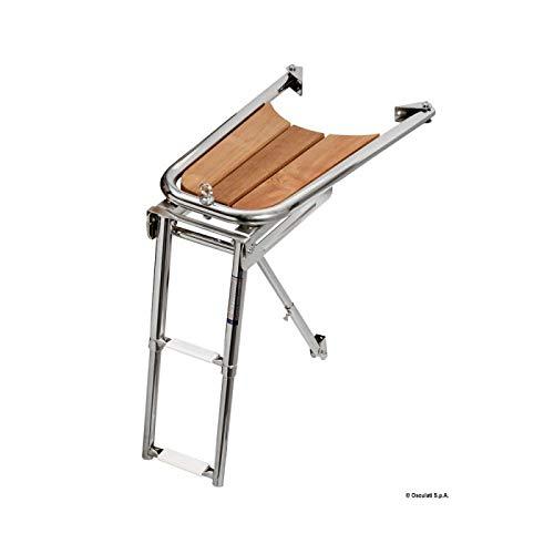 Osculati Dolfijn spits AISI 316/teak met 2-staps ladder