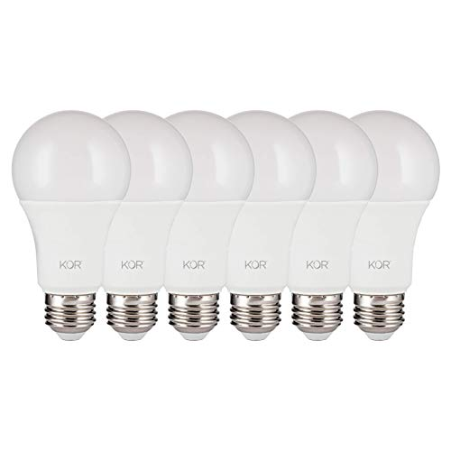 (6 PACK) KOR 15W LED A19 Light Bulb (100W Equivalent) UL Listed, 5000K (Bright White Daylight), 1500 Lumens, Non-Dimmable, LED 15-Watt Standard Replacement Bulbs With E26 Base, 10,000 Hours, Long Life