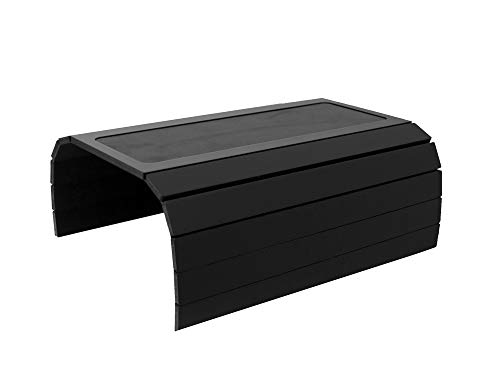 Sofa Couch Arm Tray Table with EVA Base. Weighted Sides. Fits Over Square Chair arms (Black)